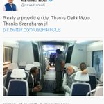 #ModiOnMetro | PM @narendramodi takes to twitter sharing his experience
