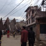 Terrible #earthquake in #Nepal. Just saved ourselves. Dont know how many killed. Roads are blocked already. http://t.co/qsxITz0n1P