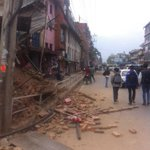 I hop everyone is safe. Still shaking from the major earthquake. Damage in my area #kathmandu http://t.co/hUAzcLoLNv