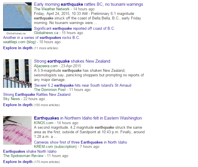 B.C. (Canada), California, Idaho, New Zealand, Nepal, India… Is the Earth's crust doing a Mexican wave? #earthquake http://t.co/b3a6UKAG5W