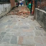 Aftermath 7.7 Richter scale #earthquake #kathmandu #nepal #asia #disaster http://t.co/xHaij9axJI