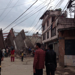 #BREAKING: Major damage, injuries reported after 7.5-magnitude #earthquake strikes central #Nepal. (Photo: @gunaraj) http://t.co/5fZjOoAGFI