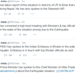 PM Shri @narendramodi has convened a high level meeting with Ministers & top officials at 3 PM on recent #Earthquake http://t.co/5YbICpWp1o