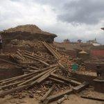 Kathmandu patan district. Old royal square devastated. http://t.co/Fq0CSRgeGM