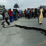 UPDATE: 7.9-magnitude earthquake rocks Nepal, reportedly bringing down buildings. http://t.co/ByWnWrQDys #9News http://t.co/uohximK6Dg