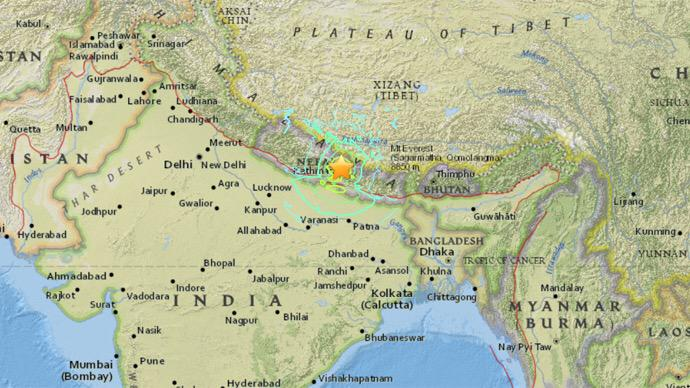 A 7.9 magnitude earthquake has hit 50 miles east of Pokhara, #Nepal. Shelterbox is monitoring, ready to respond http://t.co/iBXBGbHQut