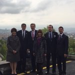 The U.S. Presidential delegation paid respect to the memory of the victims in Tsitsernakaberd #Armenia http://t.co/P1zDSCvq5z