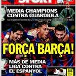 """Aquesta es la portada avui dun """"diari"""" esportiu de Barcelona. Vergonya aliena. #RCDE A PER ELLS!. http://t.co/EILdo2FosV"""