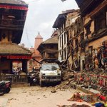 Bhaktapur, #Nepal today - more from my sister. #NepalQuake http://t.co/GR9j6nlJSZ