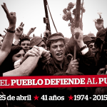 41 años de la Revolución de los Claveles en Portugal. #25Abril Sempre! Sólo el pueblo defiende al pueblo http://t.co/z018kHgDG9