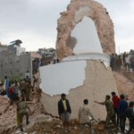 Bodies removed from Kathmandus historic Dharahara tower after it collapses in earthquake http://t.co/uwtNJp74EE http://t.co/h3oFNszbc6