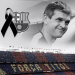 One year ago today, former Barcelona manager Tito Vilanova sadly lost his battle with cancer. #RIPTito http://t.co/n6Gstf48zI