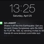 And then.. there are shamelessly insensitive idiots like @Lenskart_com. Hope you lose all your customers. (via FB)