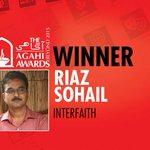 Interfaith Award goes to @Riazsangi #Karachi @BBCUrdu #AgahiAwards http://t.co/AqYErlPSou