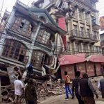 Latest pics sent to ANI from Kathmandu of #earthquake aftermath http://t.co/2tWgyFeMGf
