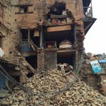 Heart-wrenching scenes out of Bhaktapur, #Nepal this morning. #NepalQuake http://t.co/5kKtkMz36s