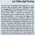 Il 2 maggio il panel organizzato da #TGLFF30 @OrPsyPiemonte e @TorinoPride + Non so perché ti odio di @FilippoSoldi http://t.co/Engfd5ScGT