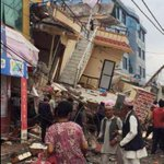 Images of devastation in Nepal. 7.5-magnitude #earthquake causes extensive damage in Nepal. http://t.co/ShNkfbyFvK