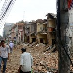 Népal : séisme de magnitude 7.9, au moins 114 morts >>http://t.co/PZxWYpE2bF http://t.co/nND7XG4dVz