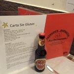 Os presentamos la nueva Carta y cerveza #singluten #celiacos.De momento en Conde de Aranda #Madrid http://t.co/MxE0uLfbyk