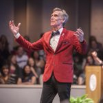 ".@BillNye on the joy of #science and discovery: ""We might, dare I say it, change the world"". #Cornell150 http://t.co/pTtZirCVvc"