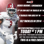 Join us at Aggie Memorial TODAY at 1 PM and see players like Derek Ibekwe in the 2015 Spring Football Game! #AggieUp http://t.co/ImgxHq6153