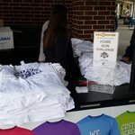 Tshirts are piled up and ready to go! Gates open at 1 p.m.! #WeAre #BlueCollar http://t.co/2uofYWEE9K