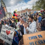 Police use tear gas to tackle crowds at anti Brixton gentrification rally #reclaimbrixton http://t.co/VX8xf895Z2 http://t.co/tvJ12j3d3g
