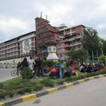 MT @kundadixit: People prepare to spend night outdoors in #Kathmandu as aftershocks and thunderstorm threaten. http://t.co/TtD90AgI5d