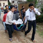 A 7.9-magnitude earthquake in Nepal killed more than 700 people — and triggered an avalanche. http://t.co/r6toAcYcn9 http://t.co/eCfVd7HSrm