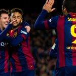 Messi 47 goles, Neymar 31, Suárez 19. La MSN a solo 3 goles de igualar los 100 de Etoo, Messi y Henry. http://t.co/FfHxCdi2Tz