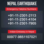 RT @Urs_gmssr: @crhemanth plz share nepal and india helpline numbers plz share and save life's bro plz share plz ...plz share