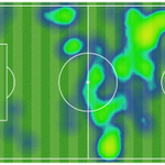 [#MESSI, NEYMAR, SUÁREZ] Heat map of Barças big 3 in the first half! http://t.co/pwfzXGg22S ESP 0 - 2 FCB #FCBLive http://t.co/WiXcJrG49F