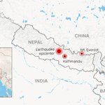 The Nepal earthquake was centered less than 50 miles northwest of Kathmandu, Nepal. http://t.co/w3DV9S1oqD http://t.co/N0N0iZnCZV