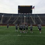 Time for the walk through at Michigan Stadium! http://t.co/rbaylTyqt3
