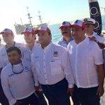 Acompañando a nuestro Gobernador @betoborge al disparo d salida del Torneo de Pesca d Cancún @fabian_vallado @romayor http://t.co/BqZcicnbVq