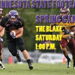 See you this afternoon at #TheBlake! @MinnStFootball Spring Game starts at 1:00 p.m. http://t.co/BRpxXyH3sC