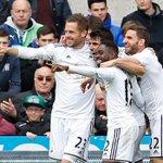 The Swansea team spot Mike Ashley http://t.co/Dcj5owLji4 http://t.co/4VZHXPJH4B