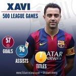 [STATS] Xavi makes 500th @LaLiga appearance. RT to support him! #Xavi500 #FCBLive http://t.co/ewuAlKcQDr