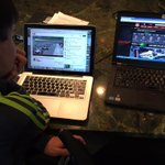 """Our Quals """"race control"""" Carter & I have @IndyCar @YouTube, website, @Verizon app & @IndyCaronNBCSN all at once! http://t.co/NyHpnZotYM"""