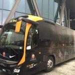 #InterRoma ci siamo! Il pullman dell#ASRoma è pronto a lasciare lhotel: a breve saremo al Meazza di Milano http://t.co/qfR1m1LdaJ
