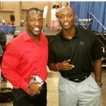#UGA greats Rennie Curran and DJ Shockley together at the Peachtree Sports Festival. http://t.co/brMzSROnhF