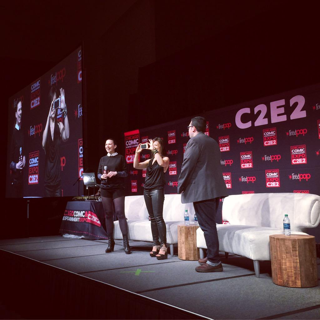 Who else is LOVING the Kickass Women of S.H.I.E.L.D Panel with @mingna_wen, @HayleyAtwell and @AgentM?! #C2E2 http://t.co/r1tQ5rfGiA
