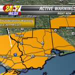 Severe Thunderstorm WARNING has been issued for Hancock, Harrison and Pearl River Co until 2:30pm. #MSwx http://t.co/E9SyHPrOAR