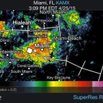 Thunderstorm set to move through Downtown #Miami. #flwx http://t.co/oOJjOtHgUW