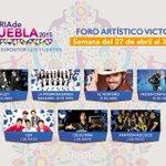 La próxima semana en el #ForoArtístico de la #FeriadePuebla disfruta de artistas como: @LaLeyOficial y @somosCD9 http://t.co/uI5y59LtH5