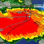 Heavy rain over Marlins Park moving E@25. If youre going to the 4:10 game stay in your car, itll be done by 4:00PM. http://t.co/lotyxG8RRn