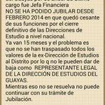 X favor @MashiRafael intervenga. Mi mama lleva 15 meses sin cobertura, sin sueldo, está enferma @AXEA65 @Educacion_Ec http://t.co/JFVmCbuvtB