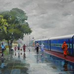 RT @sriramvasu: What an incredible painting by Bijai Biswal. Wow!