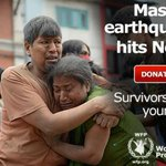 Earthquake survivors in Nepal need your support now. Help @WFP help them http://t.co/gjRQ0YV7bx #Nepalquake http://t.co/LgcNZSR1Ij